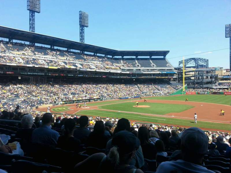 Seating view for PNC Park Section 108 Row x Seat 17