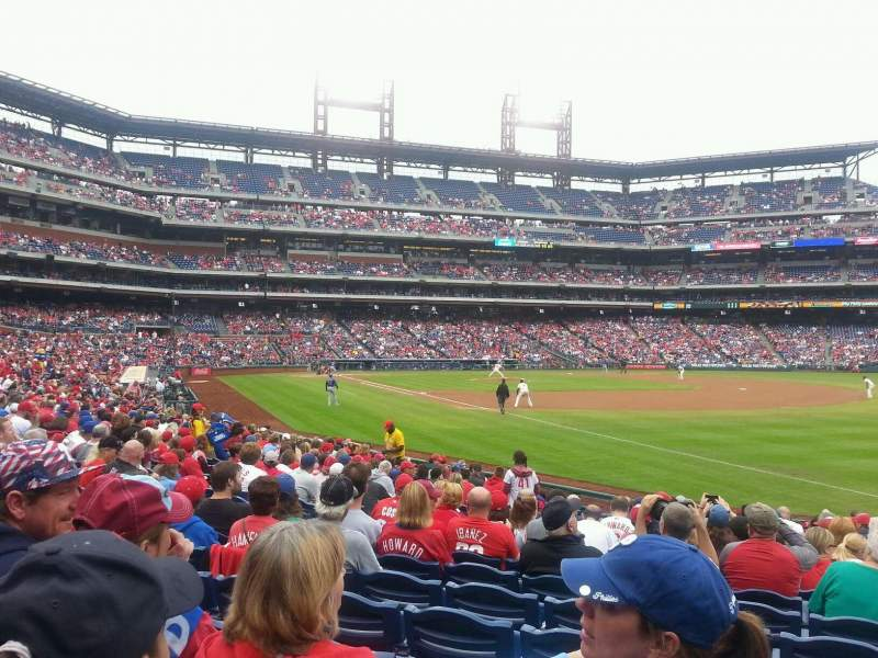Seating view for Citizens Bank Park Section 110 Row 19 Seat 4
