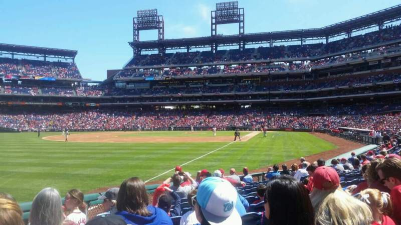 Seating view for Citizens Bank Park Section 138 Row 12 Seat 16