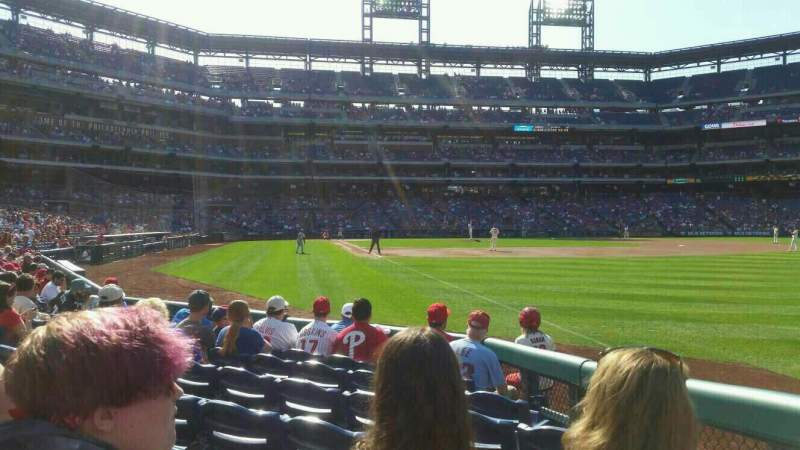 Seating view for Citizens Bank Park Section 109 Row 8 Seat 8