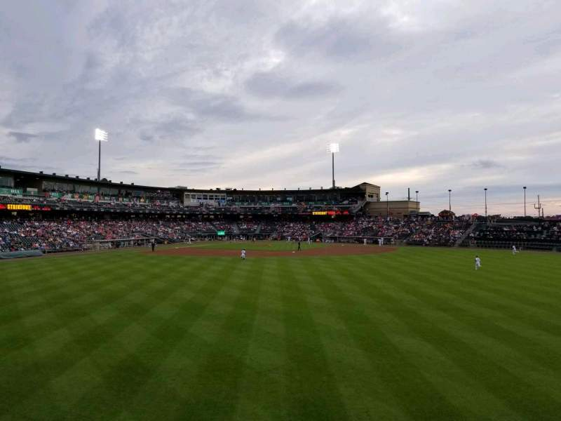 Seating view for Coca-Cola Park Section bacon strip Row a Seat 70