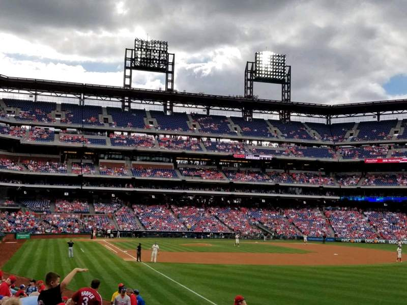 Seating view for Citizens Bank Park Section 108 Row 21 Seat 15
