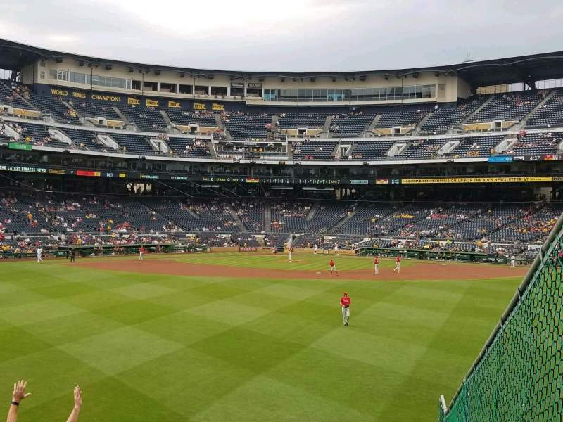Seating view for PNC Park Section 141 Row l Seat 1