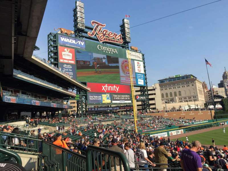 Seating view for Comerica Park Section 138A Row A Seat 1