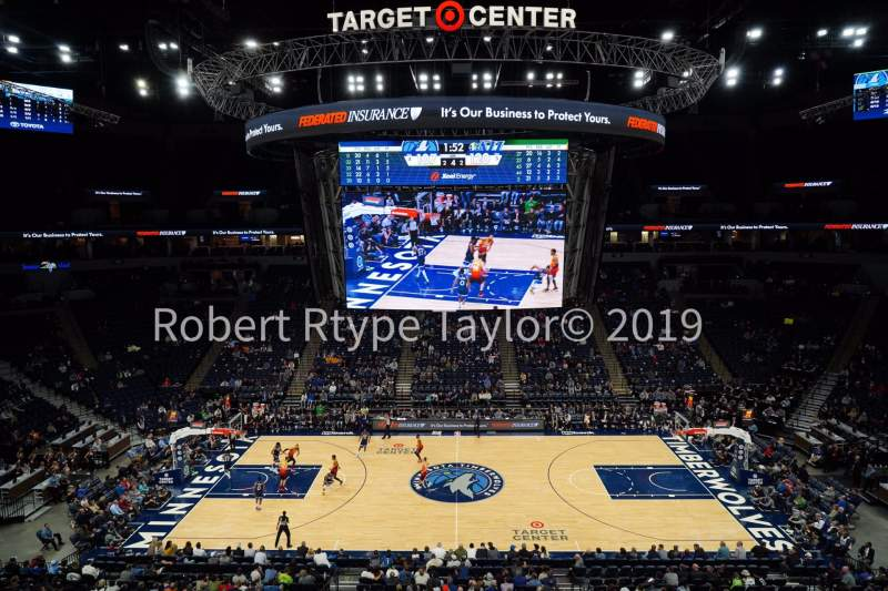 Seating view for Target Center Section 211 Row A Seat 5-6