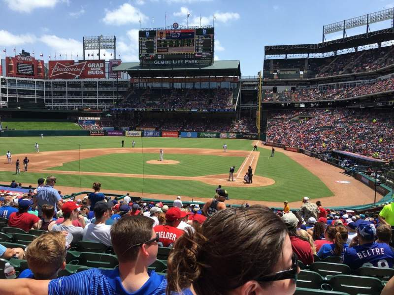 Seating view for Globe Life Park in Arlington Section 22 Row 24 Seat 9