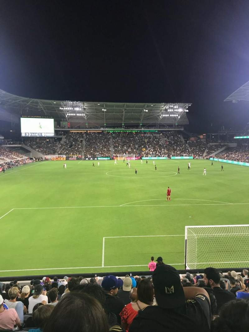 Seating view for Banc of California Stadium Section 123 Row R Seat 3