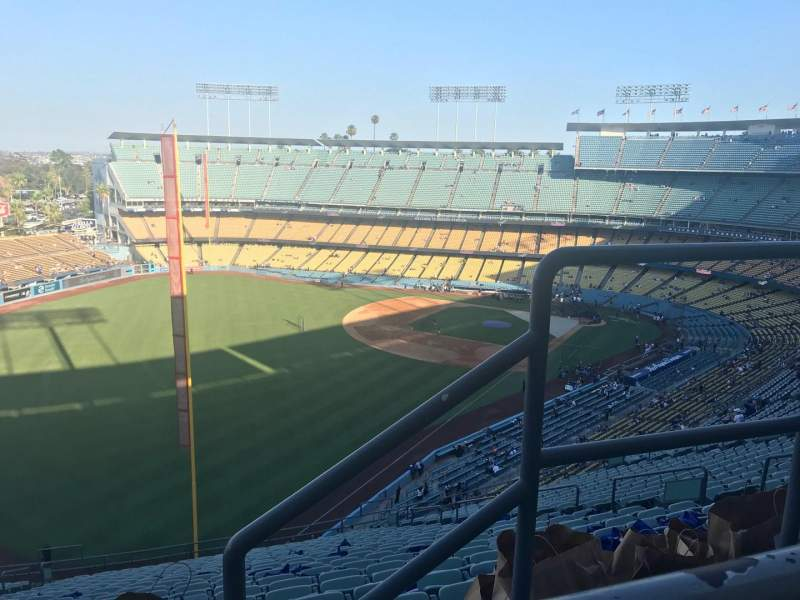 Seating view for Dodger Stadium Section 53RS Row AA Seat 2