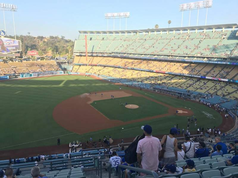 Seating view for Dodger Stadium Section 27RS Row L Seat 1