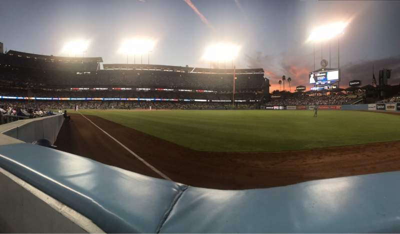 Seating view for Dodger Stadium Section 48FD Row AA Seat 4
