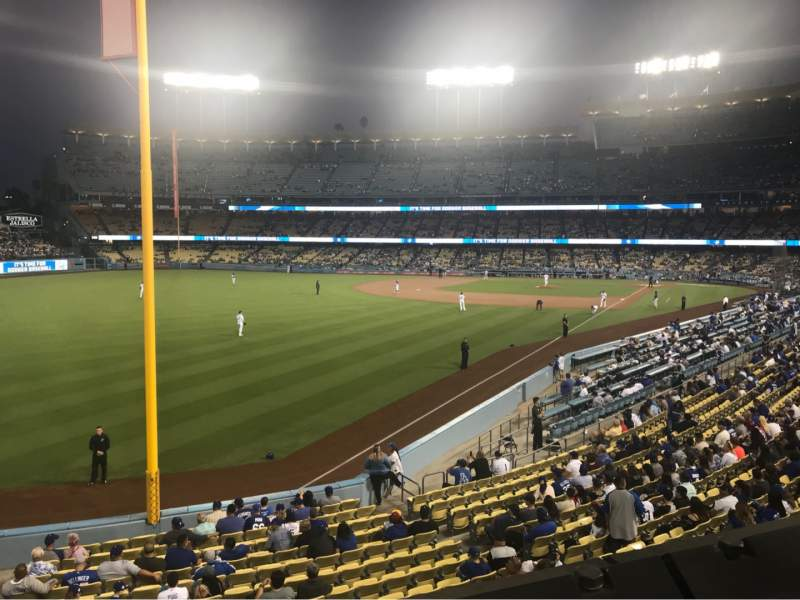 Seating view for Dodger Stadium Section 163LG Row A Seat 1