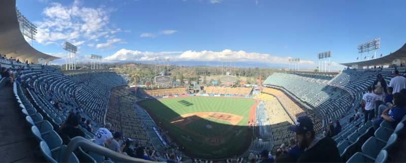Seating view for Dodger Stadium Section 3TD Row N Seat 20