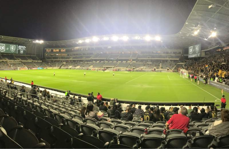 Seating view for Banc of California Stadium Section 109 Row M Seat 20