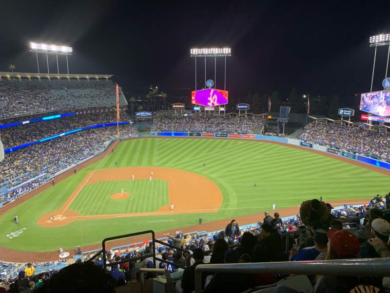 Seating view for Dodger Stadium Section 12RS Row GG Seat 1