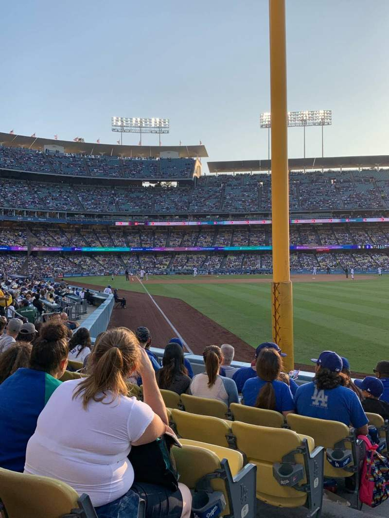 Seating view for Dodger Stadium Section 50FD Row G Seat 1