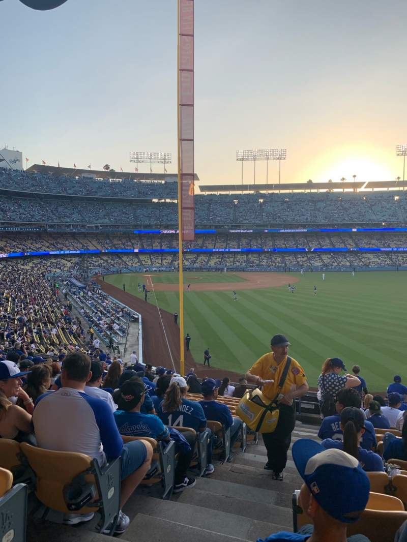 Seating view for Dodger Stadium Section 168LG Row O Seat 1