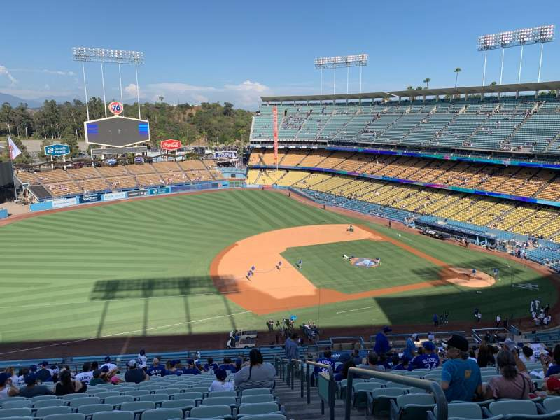 Seating view for Dodger Stadium Section 27RS Row V Seat 1
