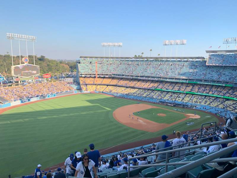 Seating view for Dodger Stadium Section 41RS Row FF Seat 14