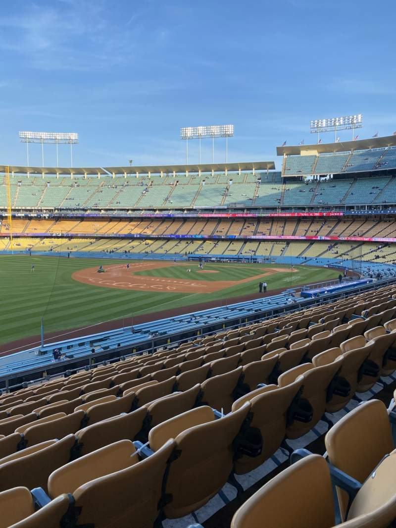 Seating view for Dodger Stadium Section 157LG Row L Seat 14
