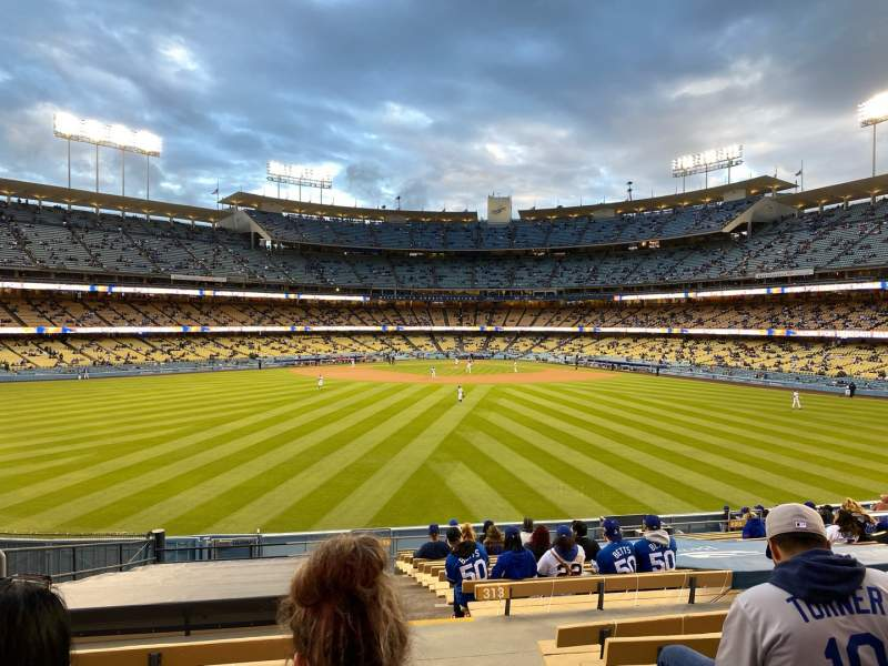 Seating view for Dodger Stadium Section 315PL Row T Seat 1