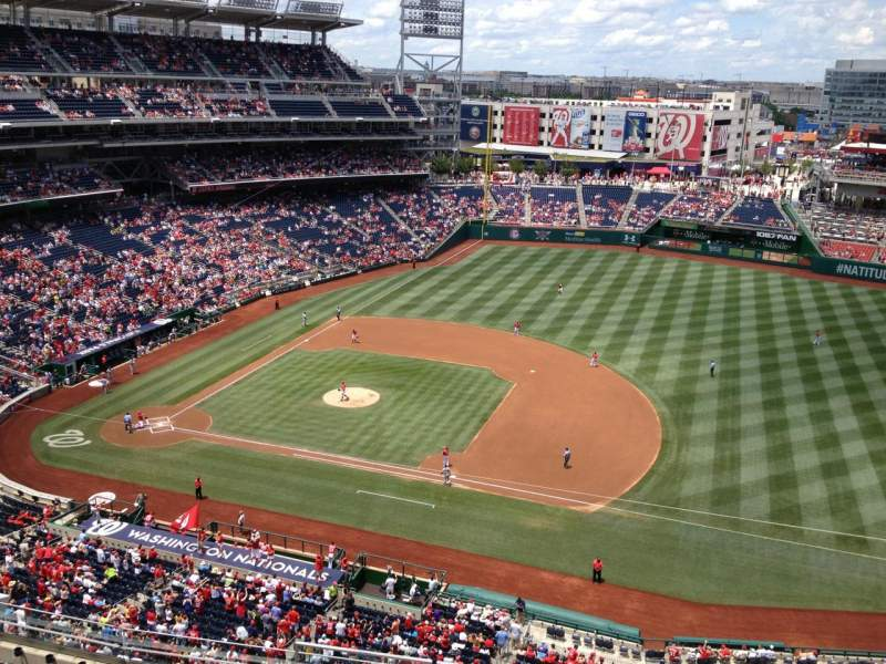 Seating view for Nationals Park Section 420 Row A Seat 13