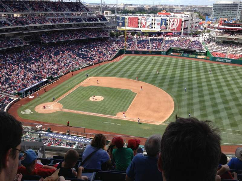 Seating view for Nationals Park Section 420 Row H Seat 20