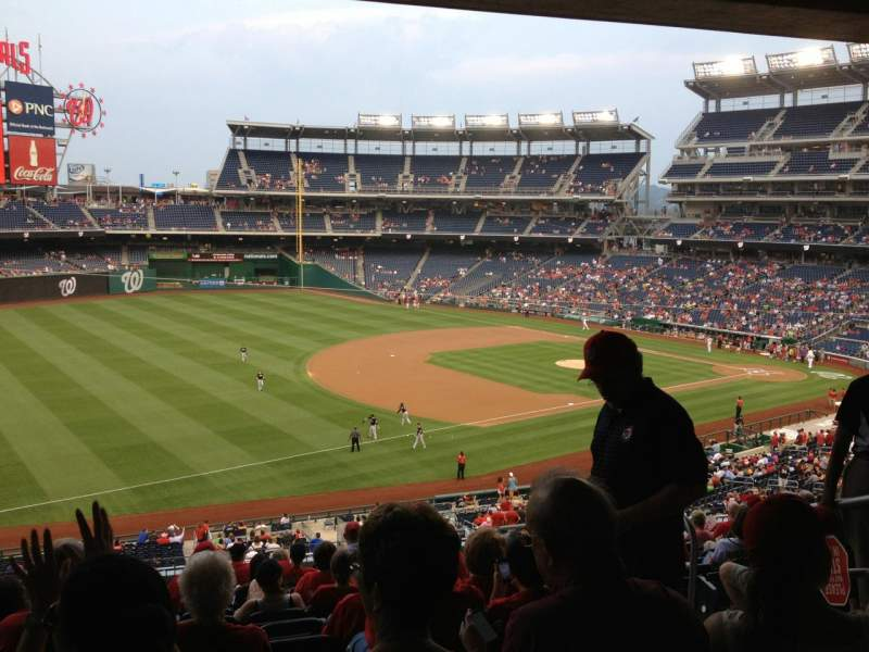 Seating view for Nationals Park Section 204 Row N Seat 5