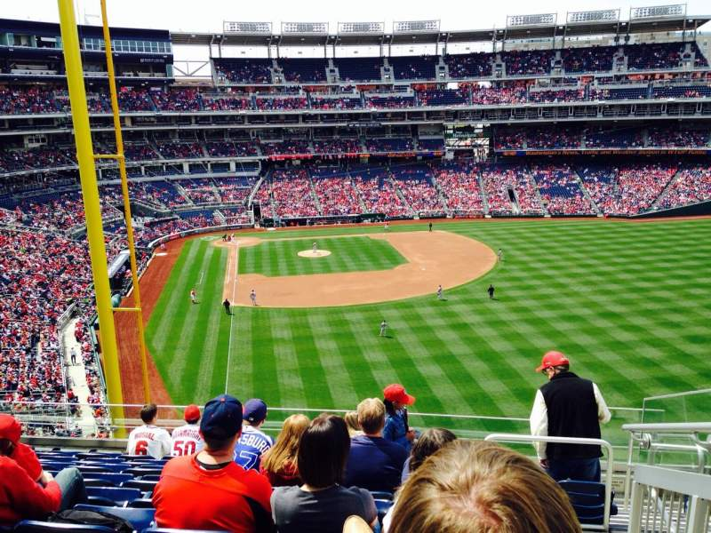 Seating view for Nationals Park Section 234 Row K Seat 1