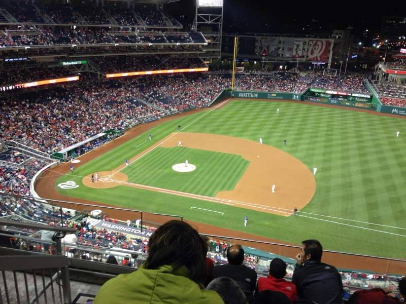 Seating view for Nationals Park Section 420 Row E Seat 25