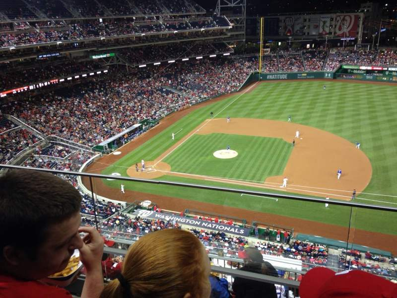 Seating view for Nationals Park Section 419 Row B Seat 3
