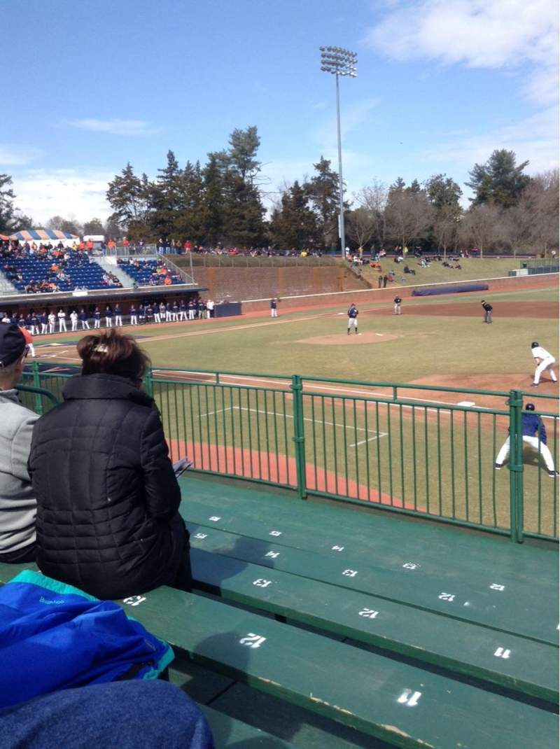 Seating view for Davenport Field Section E Row 6