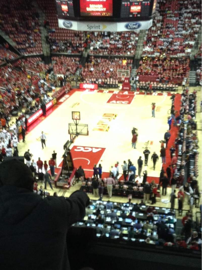 Seating view for Xfinity Center (Maryland) Section 208 Row 5