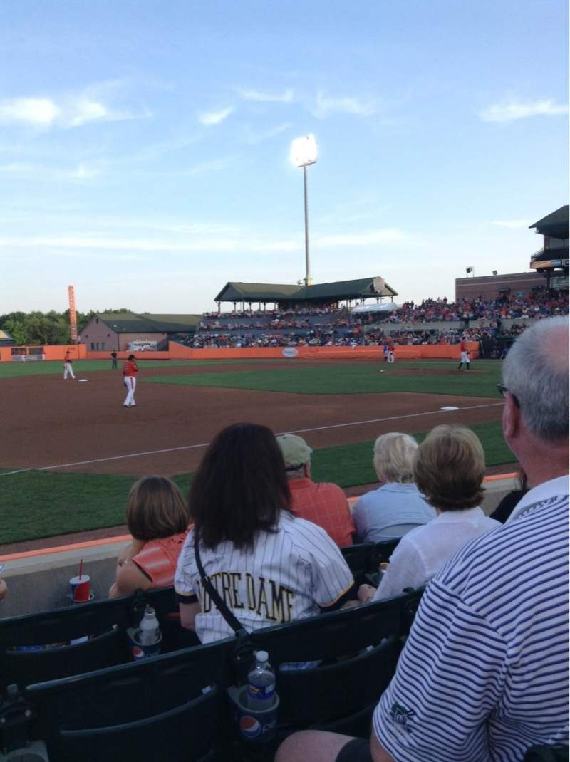 Seating view for Ripken Stadium Section 120 Row D Seat 4