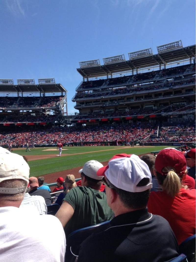 Seating view for Nationals Park Section 113 Row H Seat 12