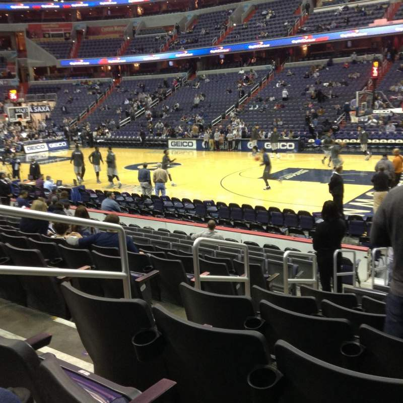 Seating view for Capital One Arena Section 113 Row M Seat 4