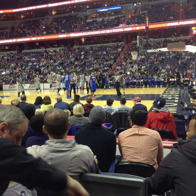 Seating view for Verizon Center Section 112 Row D