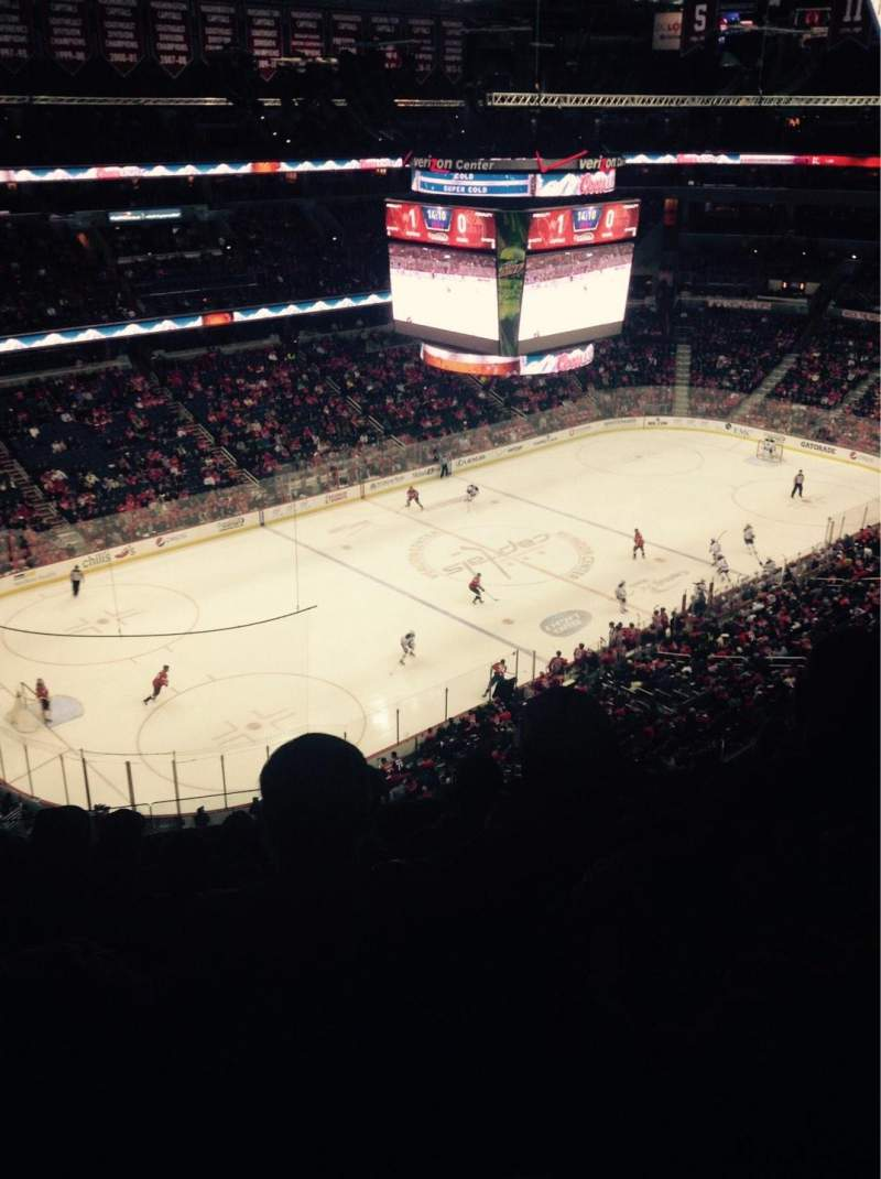 Seating view for Verizon Center Section 430 Row G Seat 9