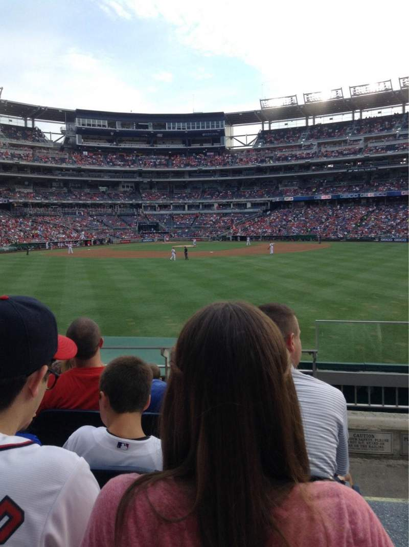 Seating view for Nationals Park Section 142 Row E
