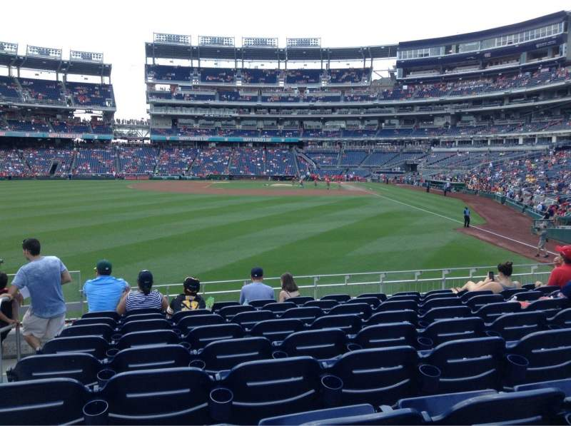 Seating view for Nationals Park Section 105 Row J