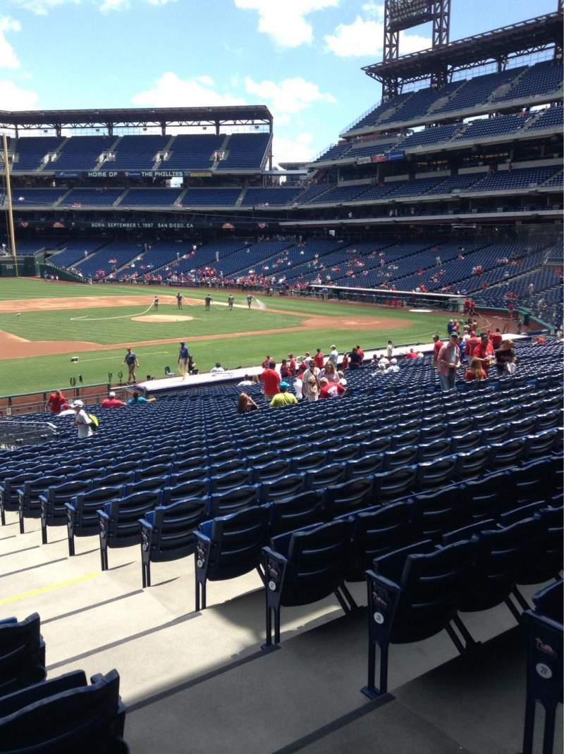 Seating view for Citizens Bank Park Section 134 Row 32