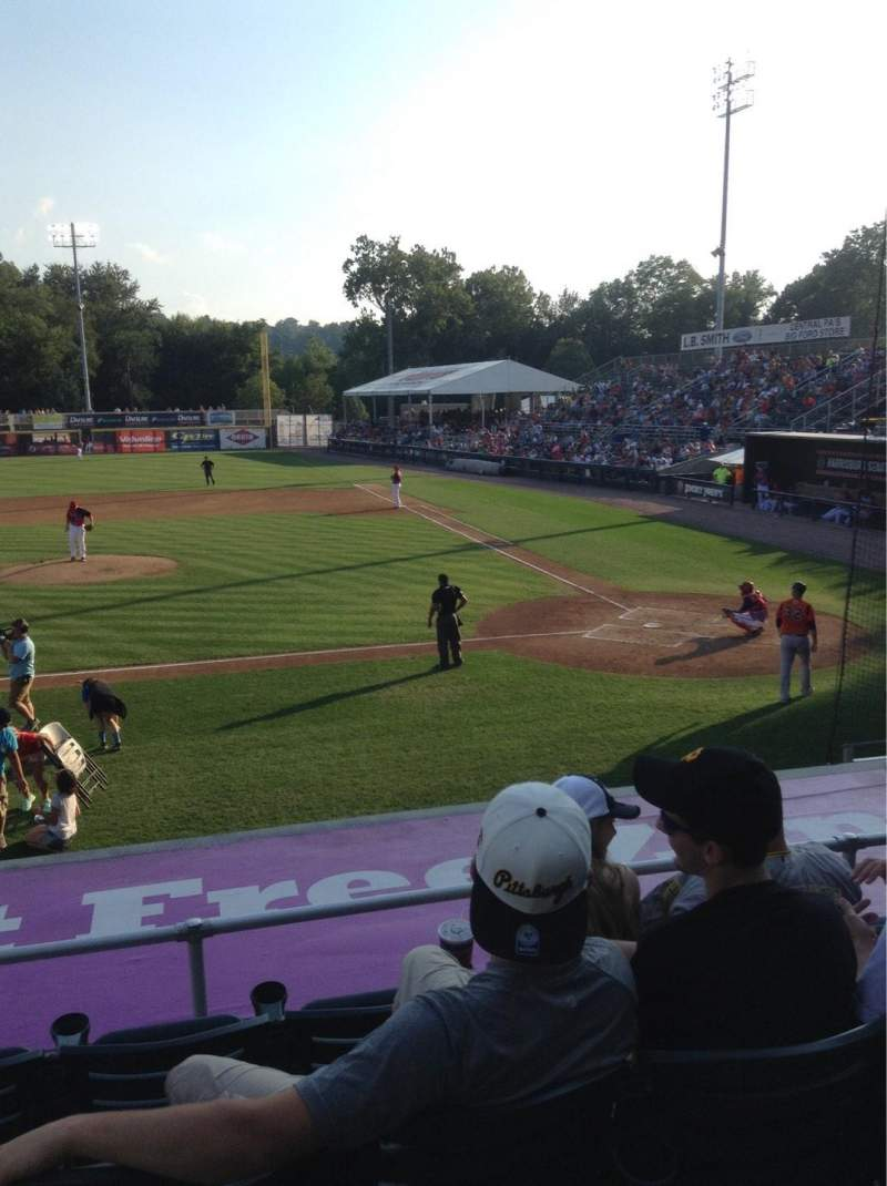 Seating view for FNB Field Section 104