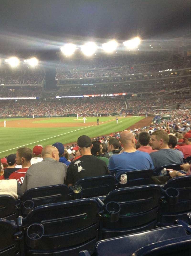 Seating view for Nationals Park Section 109