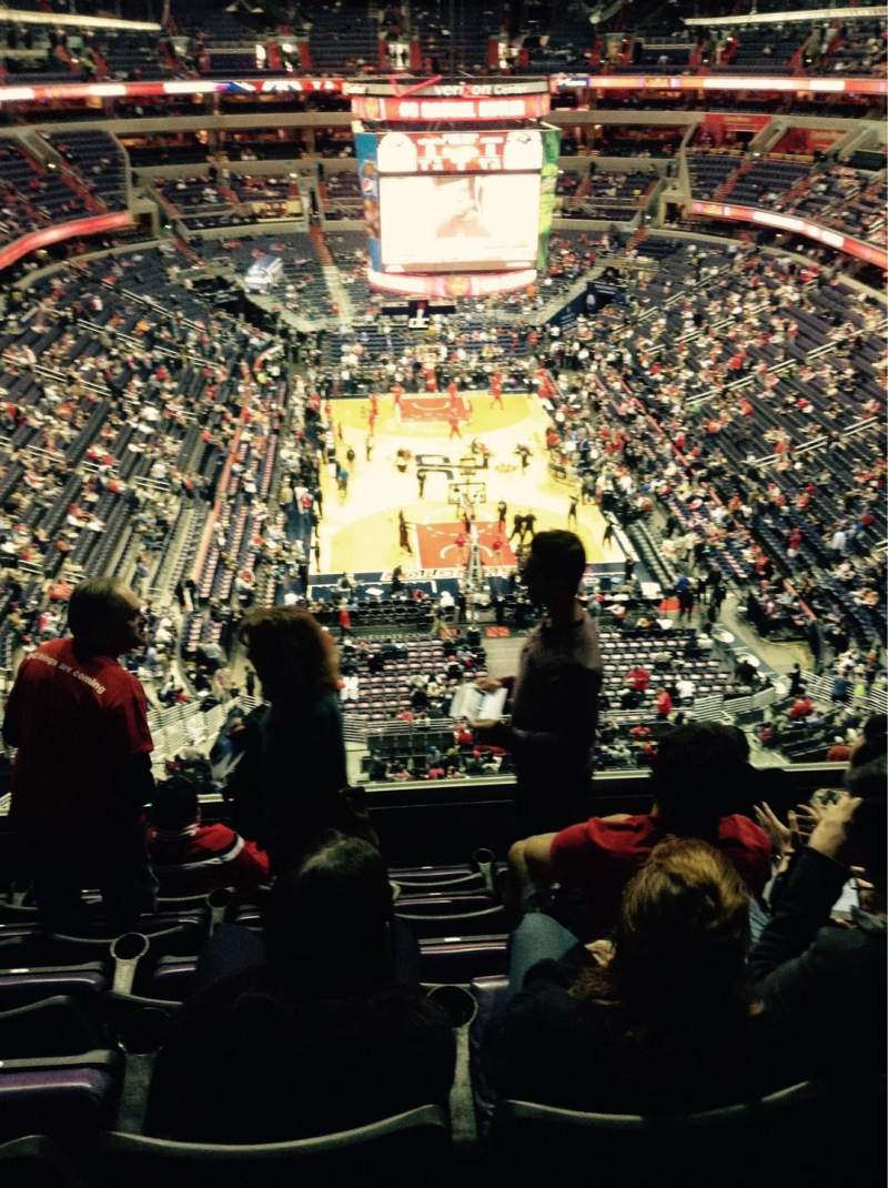 Seating view for Verizon Center Section 425