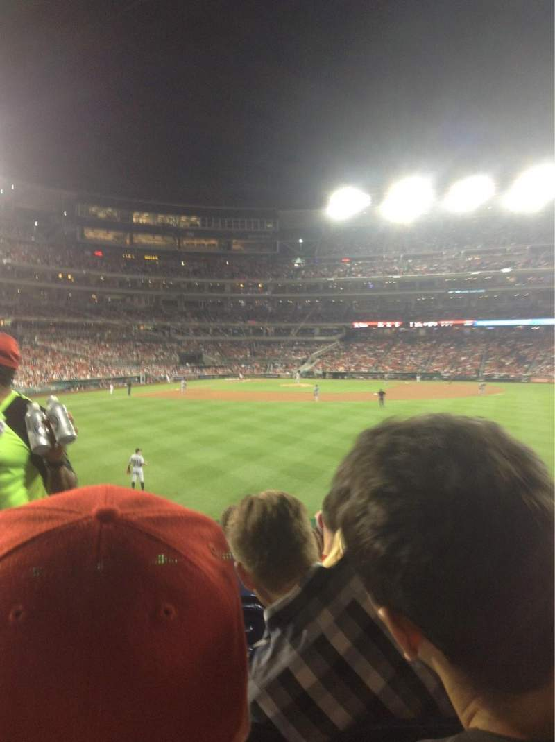 Seating view for Nationals Park Section 141 Row F Seat 25