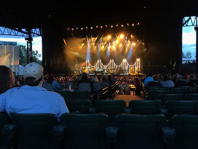 Seating view for KeyBank Pavilion Section 6 Row N Seat 15