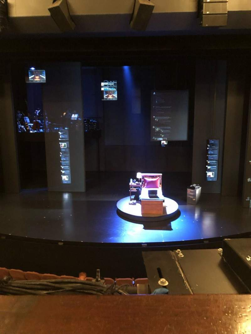 Seating view for Music Box Theatre Section Mezzanine C Row A Seat 106