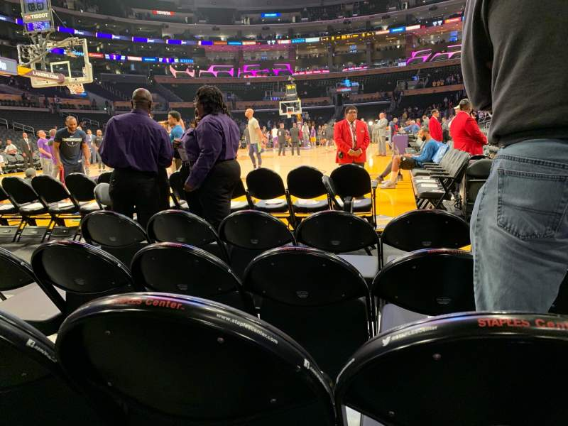 Seating view for Staples Center Section 105 Row D Seat 3