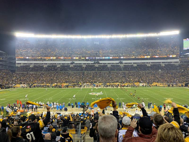 Seating view for Heinz Field Section 111 Row CC Seat 21