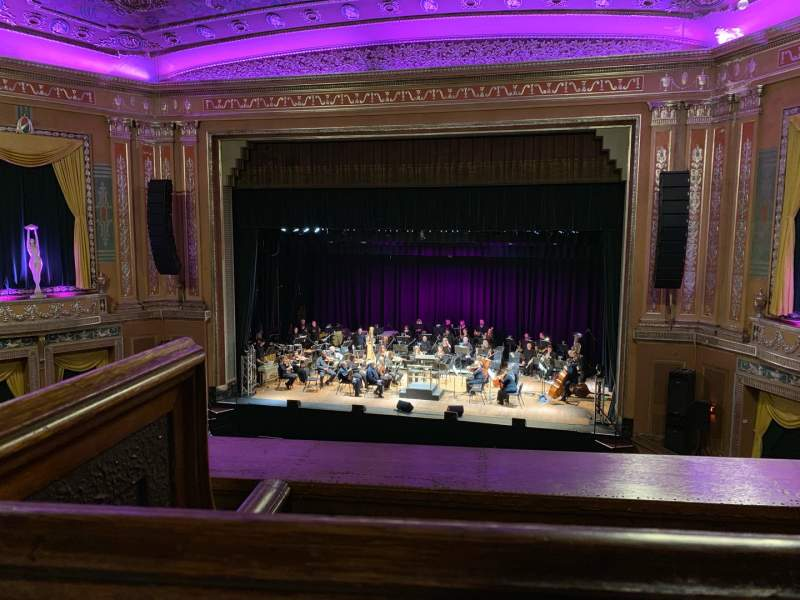 Seating view for Capitol Theatre (Wheeling) Section 12 Row A Seat 9