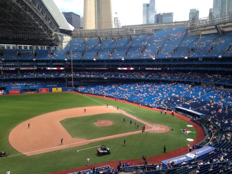 Seating view for Rogers Centre Section 473 Row 1 Seat 1